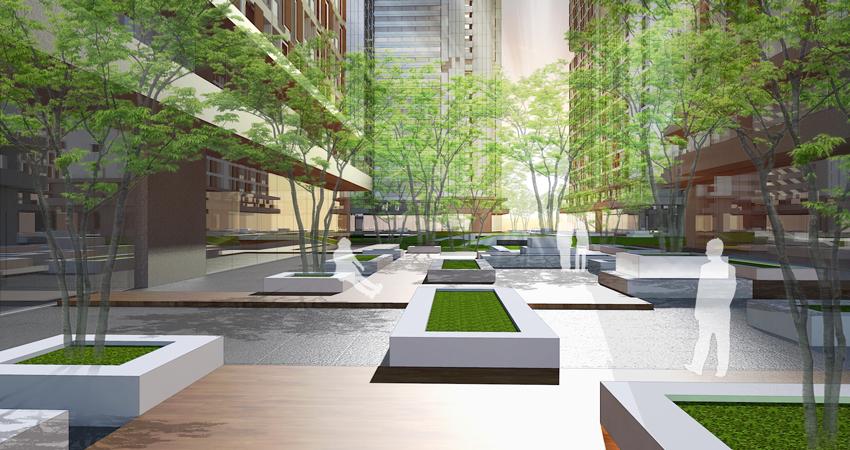 Pixel Garden Apartment garden landscape